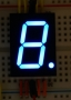 7 Segment Blue LED Display