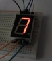 7 Segment Red LED Display