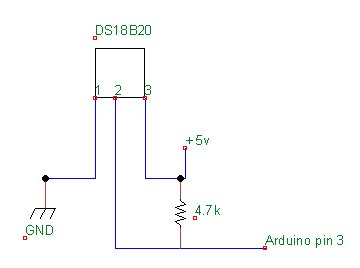arduino ds18b20 connection