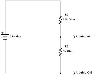 arduino voltage divider